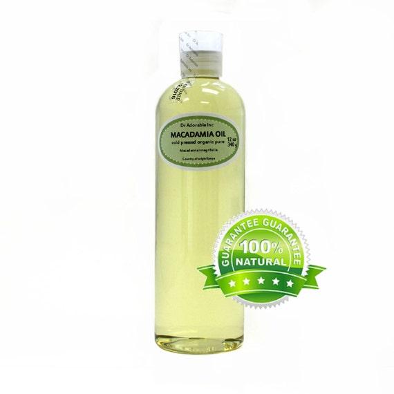12 OZ Macadamia Nut Oil Organic 100% Pure Cold Pressed