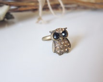 Angry Hoot - Brass Owl Ring