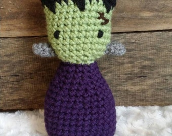 Frankenstein lovie lovey prop amigurumi