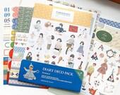 Un Jour De Reve Diary Deco Pack Stickers Ver. 4 - 9 sheets (4.7 x 6.3in)