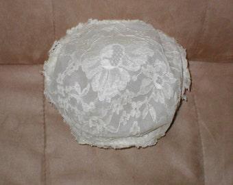 Antique IVORY Lace JULIET CAP Bridal Headpiece