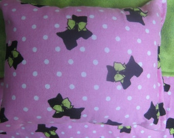 Pink and Green Doll Bedding for 18 inch doll