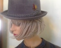 Stetson Fedora Gray Felt Hat Sovereign Hat 1950's hat