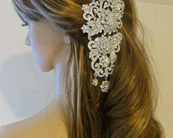 Rhinestone Bridal Headband, Prom Bridal Headpiece, Bridesmaid Tiara