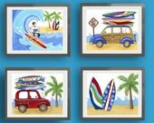 surf art, children surf art prints, surfboard, surf bedding wall art, beach theme art prints, baby boy nursery art