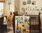"CUSTOM LISTING for tootle10 Name ""JAYCE"" Lambs and Ivy Nursery Safari Express Wall Letters Monkey, Giraffe, Elephant, Tiger, Lion"