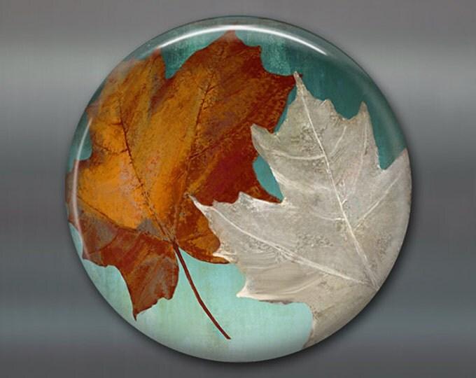 """3.5"""" colourful leaves magnet autumn decor, fridge magnet, fall leaves decor, purple decor, kitchen decor housewarming gift MA-357"""