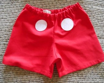 Mickey Mouse Costume shorts size 0-3 months through size 4