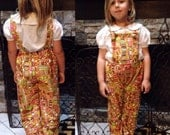 Sew Vicious Handmade Vintage Vibes Knotted Strap Toddler Overalls