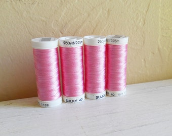 Set Of Four Light Mauve Sulky Rayon Embroidery Thread