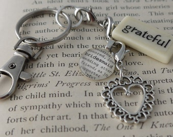 GRATEFUL Key Chain Personalized Customized for Bridesmaid, Mother of the Groom, Mother, Friend, Aunt, Realtor, Grandmother, Godmother, Love