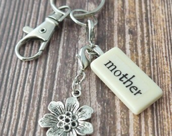 MOTHER Key Chain Personalized Customized Domino Gift for mom, mother, mother of the bride, mother of the groom, mother's day, Christmas