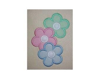 Flowers Embroidery Machine Applique Design 18032
