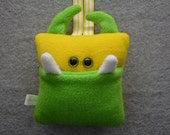 Tooth Pillow | Green and Yellow Tooth Monster | Tooth Fairy Monster Pillow