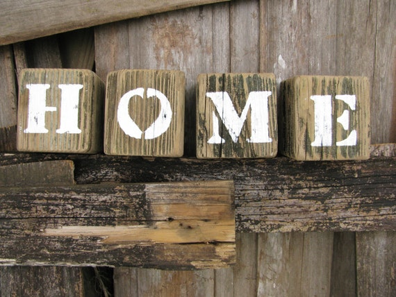 Home Signs Beach Decor Wood Blocks Wood Letters Baby