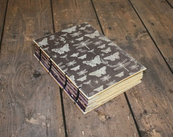 Insect Gothic Journal - Ghostly Images Book, Creepy Journal, Halloween Themed Guest Book