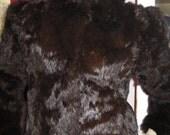 Vintage 70's Rabbit Fur Jacket womens size small