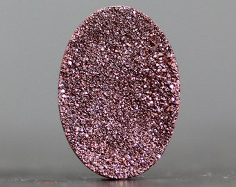 PRICE REDUCED - CLEARANCE - Destash, Wholesale, Bargain, Discounted, Discount, Sale, Budget - Druzy Oval, 25mm Cabochon (10136)