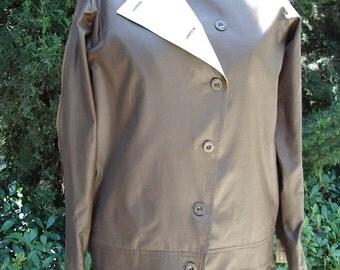 High Fashion Original One-of-a-Kind Kahki Pantsuit Zipper& 2ColorTrim Item # 865 Coats/Suits