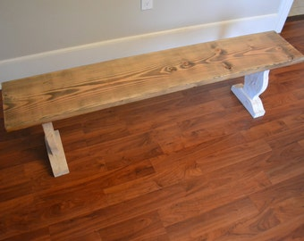 Bench, Reclaimed Wood Bench, Barn Wood Bench - Free Shipping