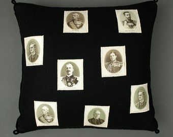 Cigarette Silks Pillow made from Original Antique Grand World Leaders Cigarette Silks