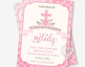 Baby dedication invitation – Etsy