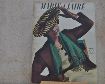 1930s  Fashion Magazine for Inspiration, Collections, Collage, Scrapbooking, Decoupage-Marie Claire April 19 1940