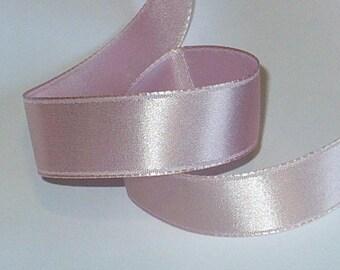 "5/8"" New Orleans Violet Ribbon, Silk Satin Ribbon, 1920's Vintage Sewing Supplies, 16mm"