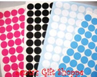 "24 1"" Vinyl Dots - Assorted Colors - Graduation Parties - Bachelorette Parties - Birthday Parties - Scrapbooking"