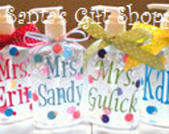 Personalized Hand Sanitizer - ONE  8oz. -Teacher Gift - Christmas Gift - Adults - Teens - Gifts - Children - Coach - Day Care- Easter Gift