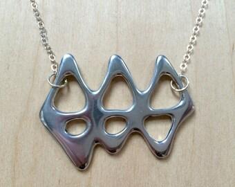 Aluminium Geometric Necklace