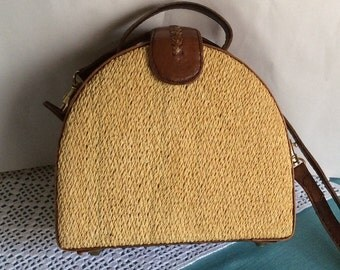 Straw and leather Elliot Lucca purse