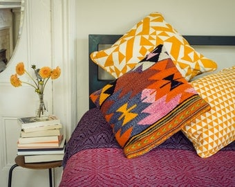 Parallels Square Pillow - 18 x 18 in. - Geometric Modern Organic Cotton