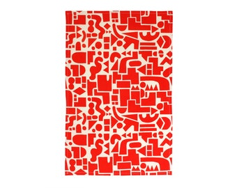 Shapes Tea Towel - Geometric Modern Organic Cotton