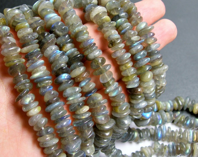 Labradotite gemstone - bead - full strand - pebble - Disc - chip - A quality - PSC144