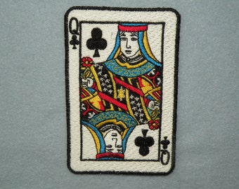 Playing Card Iron on Patch