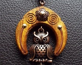 024 Copper Owl with Iroko hardwood 1-3/4""