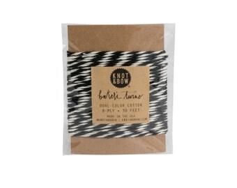 Black/Natural Baker's Twine Card / 10 Yards