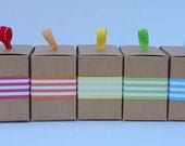 "1"" Stripe Paper Ribbon in Color of Your Choice"