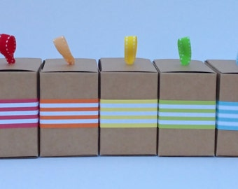 """1"""" Stripe Paper Ribbon in Color of Your Choice"""