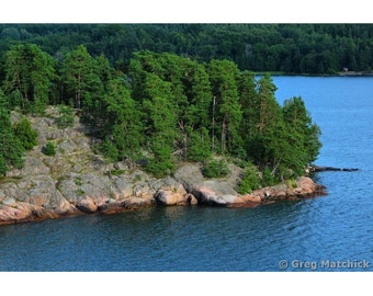 Fine Art Color Photography of Rugged Coastline in the Archipelago of Sweden