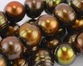 9x8mm Olive Green Potato Pearl