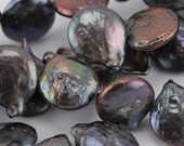 13mm Top-Drill Grape Coin Pearl