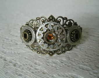 Steampunk Cuff Bracelet, steampunk jewelry victorian jewelry gothic jewelry edwardian jewelry fantasy goth neo victorian cosplay bracelet