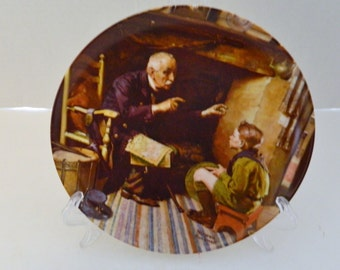 The Veteran Twelfth Plate Norman Rockwell Heritage Collection No COA Box 1988