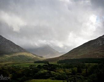 St Patricks Day, March, Twelve Bens, Celtic, Ireland, Irish Art, Mountains, Diamond Hill, Connemara National Park,  Kylemore Abbey