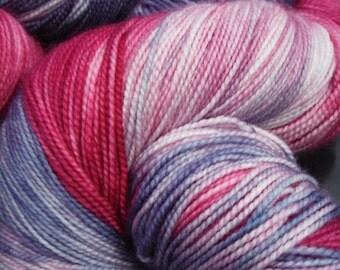 Merino/Cashmere/Nylon Jumbo High Twist Special Delivery Sock Yarn  600 yds-Berry Pie