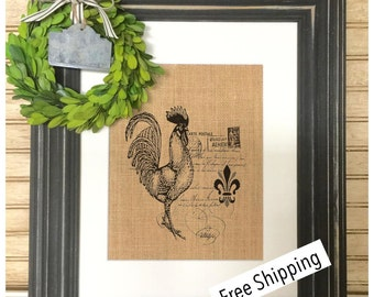 Farmhouse Decor | French Rooster Decor | French Country Decor | Rustic Home Decor | Cottage Decor | Roosters