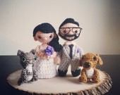 Custom Wedding Dolls (Small Amigurumi)