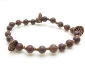 Om Buddhist Beaded Bracelet Handmade
